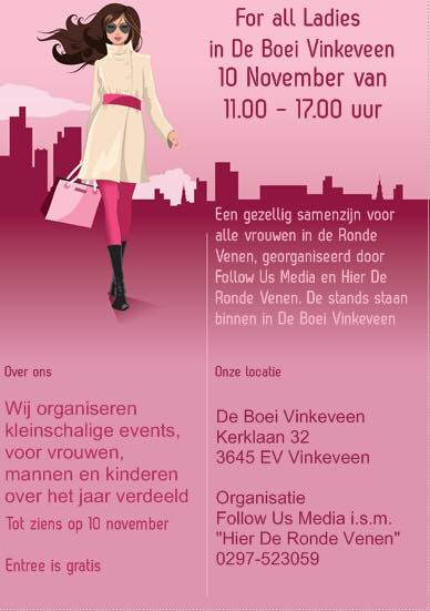 For All Ladies, kleinschalig evenement voor alle vrouwen in de Ronde Venen